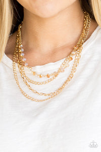 Paparazzi Jewelry Necklace  Extravagant Elegance - Gold