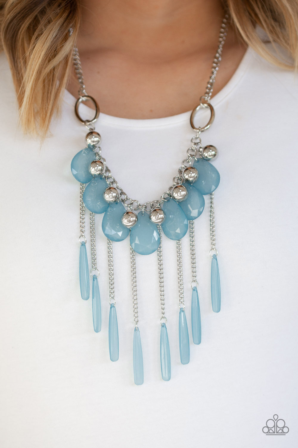 Paparazzi Jewelry Necklace Roaring Riviera - Blue