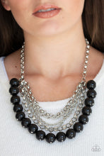 Load image into Gallery viewer, Paparazzi Jewelry Necklace One-Way WALL STREET - Black