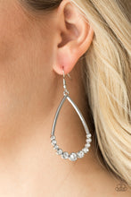 Load image into Gallery viewer, Paparazzi Jewelry Earrings Dipped In Diamonds - White