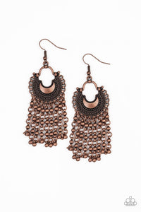 Paparazzi Jewelry Earrings Catching Dreams - Copper