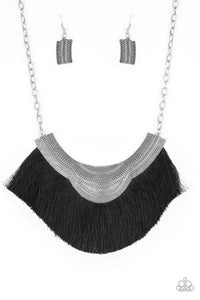 Paparazzi Jewelry Necklace My PHARAOH Lady - Black