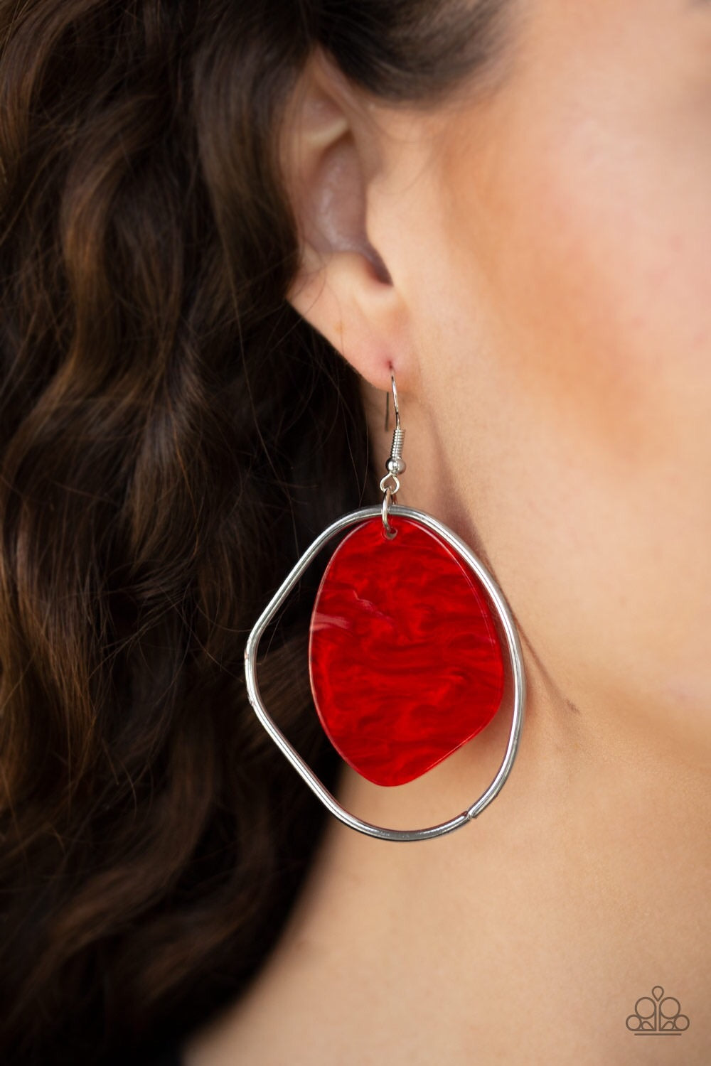 Paparazzi Jewelry Earrings HAUTE Toddy - Red