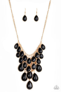 Paparazzi Jewelry Necklace Shop Til You TEARDROP - Black