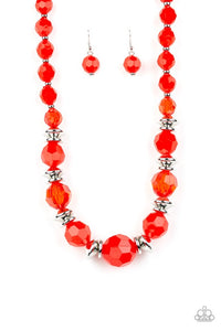 Paparazzi Jewelry Necklace Dine and Dash - Red