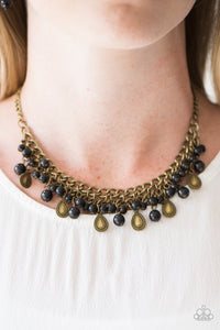 Paparazzi Jewelry Necklace PRIMAL Donna - Brass
