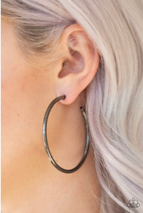 Paparazzi Jewelry Earrings Double Or Nothing - Black