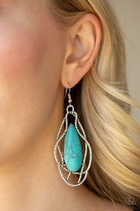 Paparazzi Jewelry Earrings Artisan Tears - Blue