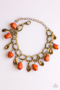 Paparazzi Jewelry Sets Adventure Is Worthwhile/Walk With Nature - Orange