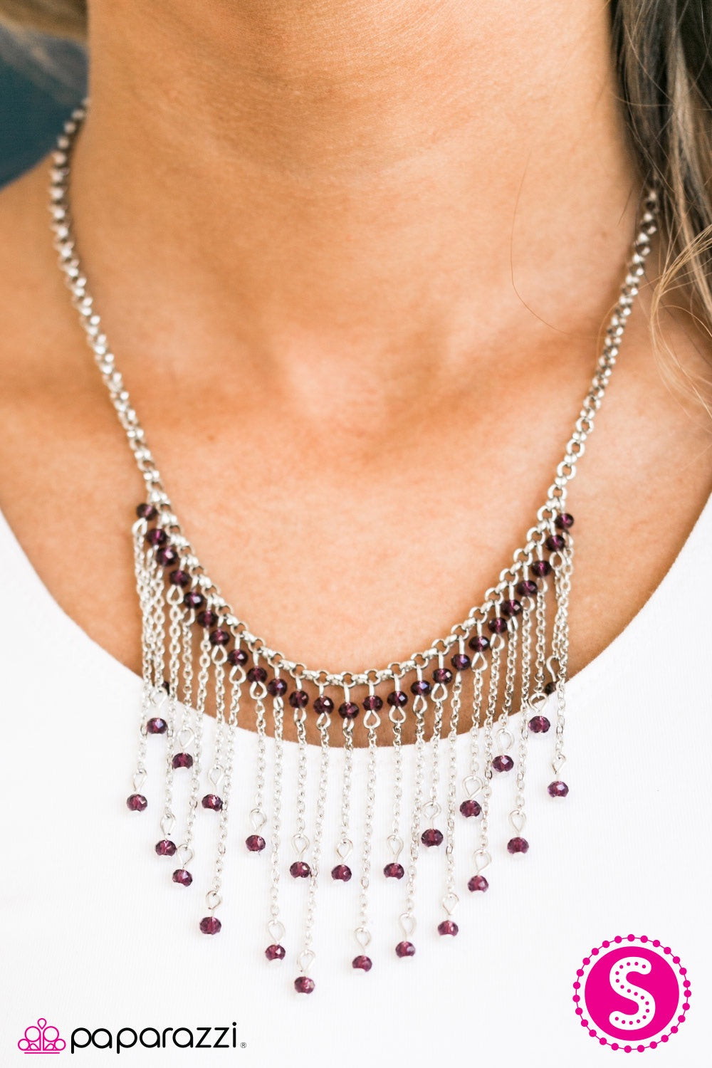 Paparazzi Jewelry Necklace Who Needs Fireworks? - Purple