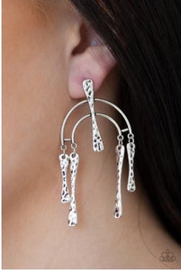 Paparazzi Jewelry Earrings ARTIFACTS Of Life - Silver