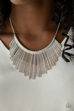 Load image into Gallery viewer, Paparazzi Jewelry Necklace Metallic Mane - Silver