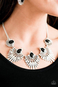 Paparazzi Jewelry Necklace Miss YOU-niverse - Black