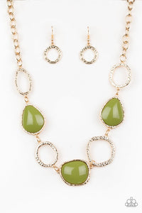 Paparazzi Jewelry Necklace Haute Heirloom - Green