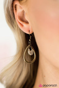 Paparazzi Jewelry Earrings Light Storm - Brass
