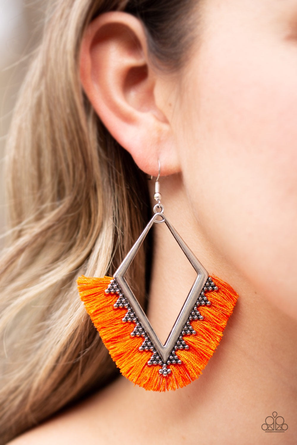 Paparazzi Jewelry Earrings When In Peru - Orange