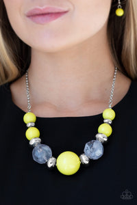 Paparazzi Jewelry Necklace Daytime Drama - Yellow