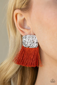 Paparazzi Jewelry Earrings Plume Bloom - Orange