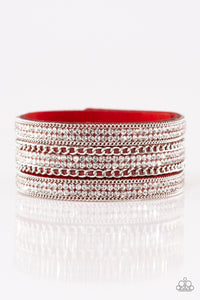 Paparazzi Jewelry Bracelet Dangerously Drama Queen - Red