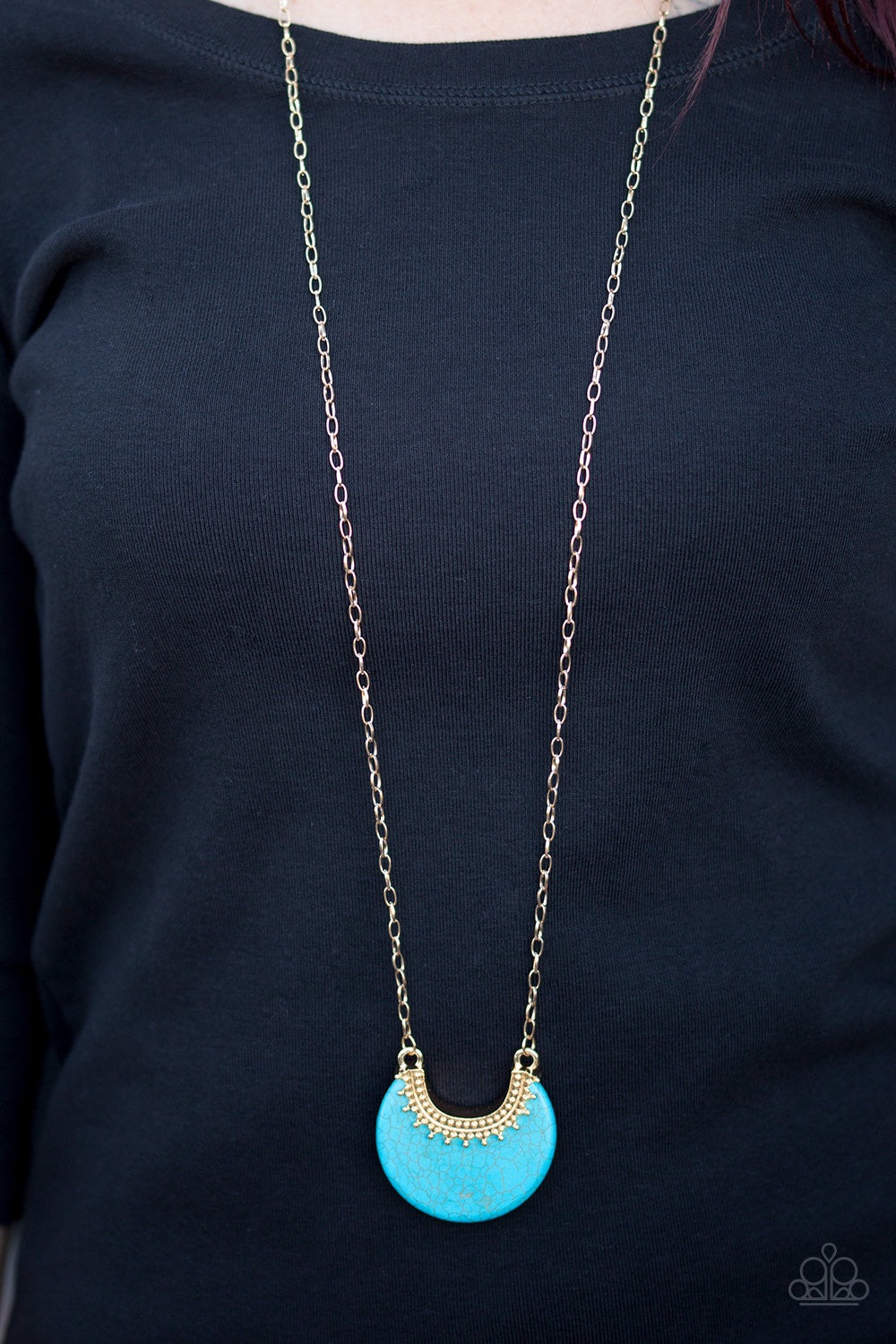 Paparazzi Jewelry Necklace Mesa Moon - Gold