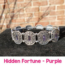 Load image into Gallery viewer, Paparazzi Jewelry Bracelet Hidden Fortune Purple