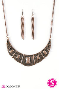 Paparazzi Jewelry Necklace Adventure Queen - Copper