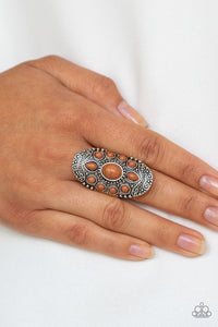 Paparazzi Jewelry Ring Stone Sunrise - Brown