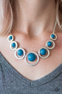 Paparazzi Jewelry Necklace Jungle River - Blue