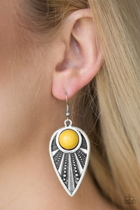 Paparazzi Jewelry Earrings Take A WALKABOUT - Yellow