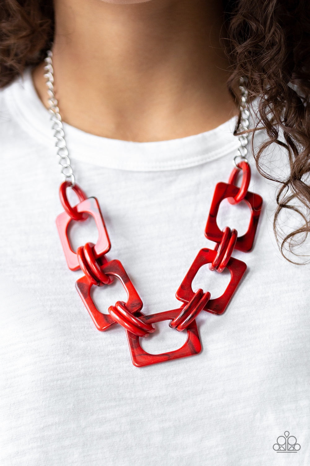 Paparazzi Jewelry Necklace Sizzle Sizzle - Red