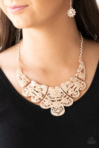 Paparazzi Jewelry Necklace Mess With The Bull - Rose Gold