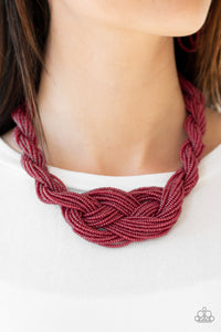 Paparazzi Jewelry Necklace A Standing Ovation - Burgundy