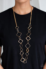 Load image into Gallery viewer, Paparazzi Jewelry Necklace Backed Into A Corner - Gold