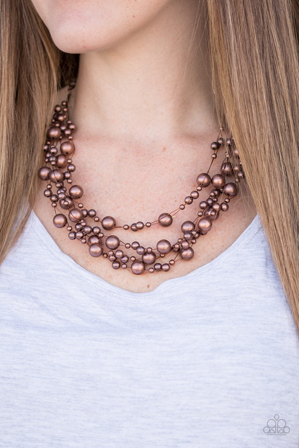 Paparazzi Jewelry Necklace  Fierce and Fab-YOU-lous! - Copper