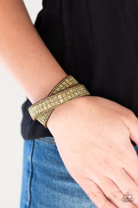 Paparazzi Jewelry Bracelet Rock Band Refinement - Brass