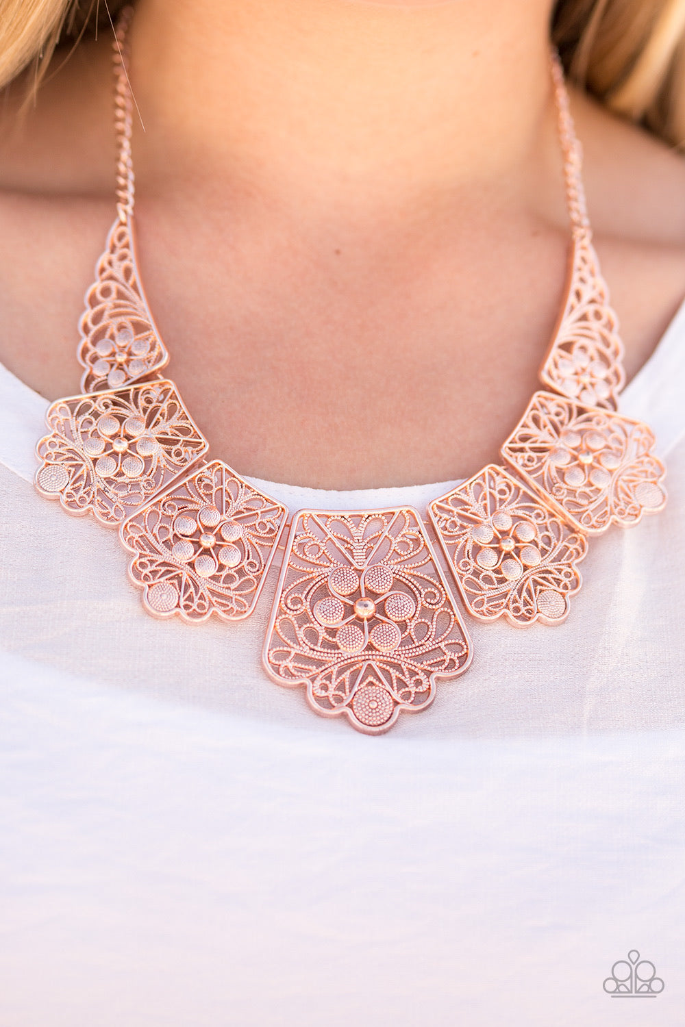Paparazzi Jewelry Necklace Native Nature - Rose Gold
