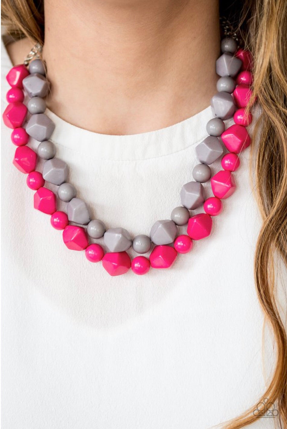 Paparazzi Jewelry Necklace Rio Rhythm - Pink