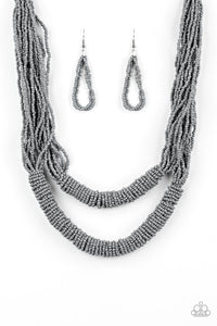 Paparazzi Jewelry Necklace Right As RAINFOREST - Silver