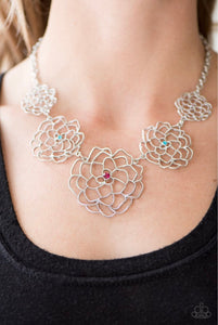 Paparazzi Jewelry Necklace Crowned Carnation - Multi