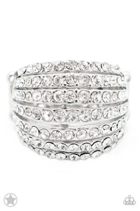 Paparazzi Jewelry Ring Blinding Brilliance - White