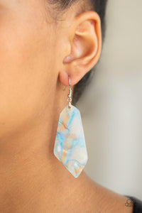 Paparazzi Jewelry Earrings Walking On WATERCOLORS - Blue