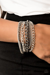 Paparazzi Jewelry Bracelet Metallic Horizon - Mutli