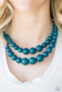 Paparazzi Jewelry Necklace Full Bead Ahead Blue