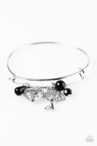 Paparazzi Jewelry Bracelet Locked On Black Bracelet