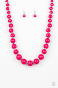 Paparazzi Jewelry Necklace Everyday Eye Candy/Candy Shop Sweetheart - Pink