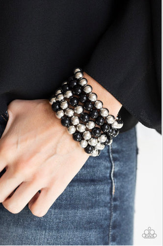 Paparazzi Jewelry Bracelet Pop-YOU-lar Culture - Black