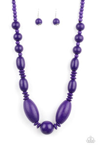 Paparazzi Jewelry Wooden Summer Breezin Purple