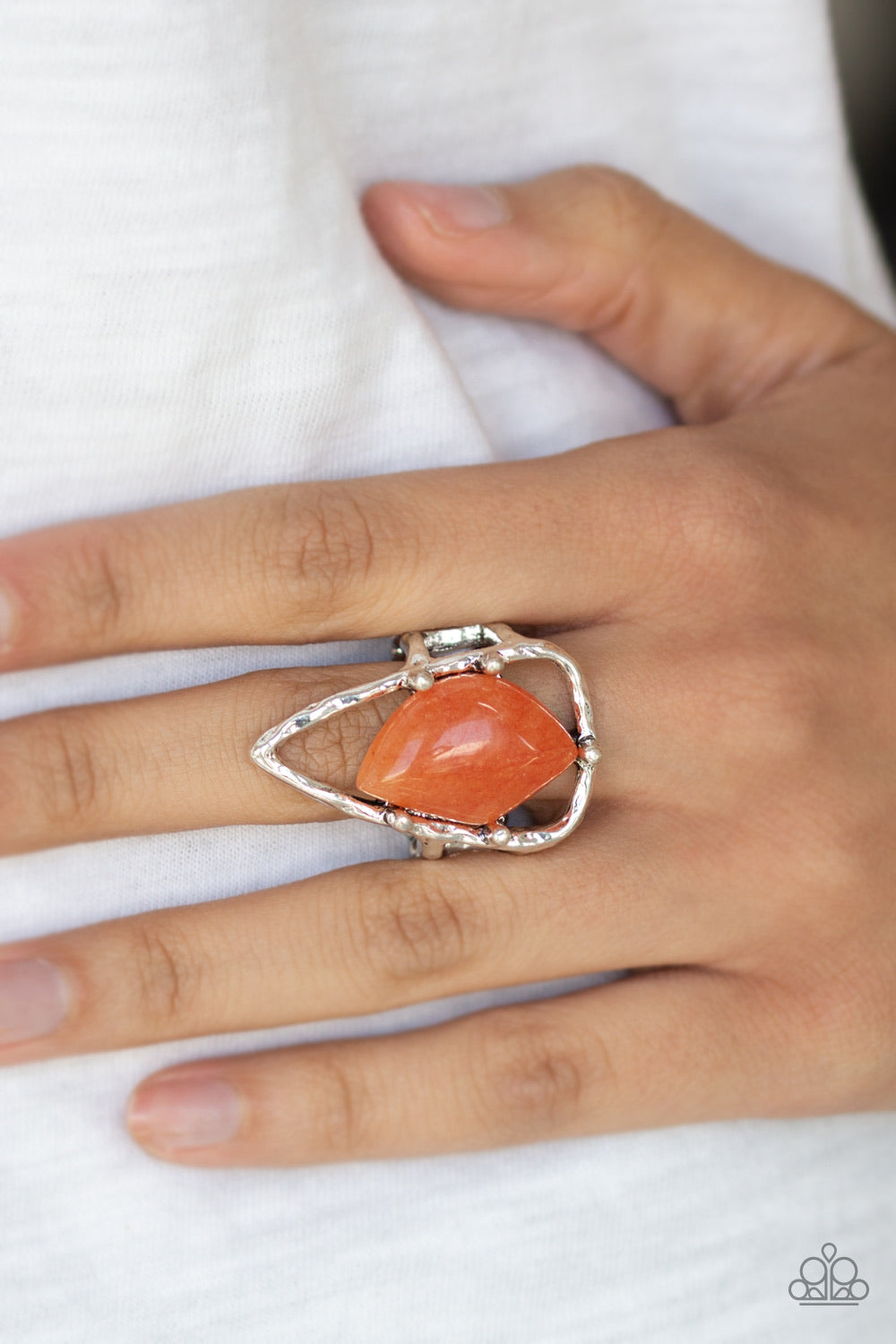 Paparazzi Jewelry Ring Get The Point - Orange