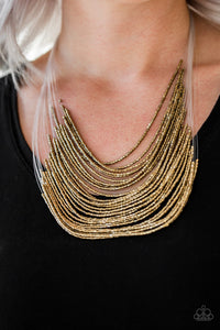 Paparazzi Jewelry Necklace Catwalk Queen - Brass