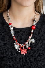 Load image into Gallery viewer, Paparazzi Jewelry Necklace Charmed, I Am Sure - Red